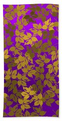 Hand Towel featuring the digital art Golden And Bright Violet by Alberto RuiZ