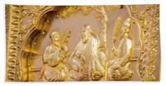 Golden Art At Sri Harmandir Sahib Hand Towel