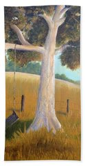 The Shadows Of Childhood Hand Towel by T Fry-Green