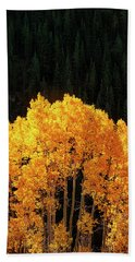 Golden Autumn Bath Towel by Andrew Soundarajan