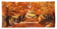 Golden Autumn Hand Towel