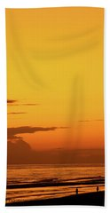 Golden Beach Sunset Bath Towel