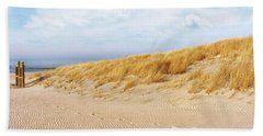 Golden Beach Walk Hand Towel by Kathi Mirto