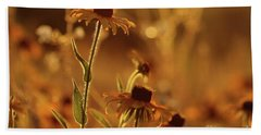 Golden Black Eyed Susan Bath Towel