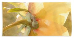 Golden Bowl Tree Peony Bloom - Back Bath Towel