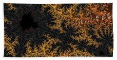 Golden Branching Moss Hand Towel