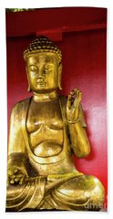 Golden Buddha With The Pearl Of Wisdom Bath Towel