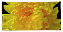 Golden Chrysanthemum  Bath Towel
