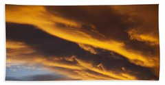 Golden Clouds Bath Towel