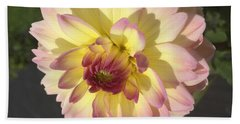Golden Dahlia Bath Towel