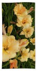 Golden Day Lilies Bath Towel