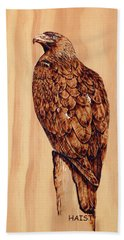 Golden Eagle Hand Towel by Ron Haist