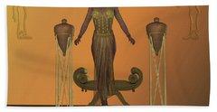 Golden Egyptian Princess Bath Towel