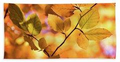 Golden Foliage Bath Towel