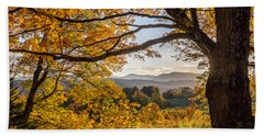 Vermont Framed In Gold Hand Towel