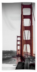 Golden Gate Black And Red Bath Towel
