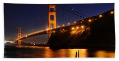 Golden Gate Bridge 1 Bath Towel by Vivian Christopher