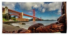 Bath Towel featuring the photograph Golden Gate Bridge And Ft Point by Bill Gallagher