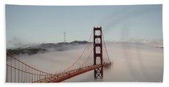 Golden Gate Bridge Hand Towel by David Bearden
