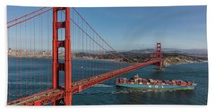 Golden Gate Bridge Bath Towel by David Cote
