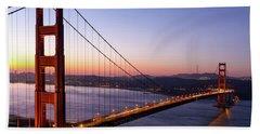 Golden Gate Bridge During Sunrise Bath Towel