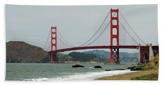 Golden Gate Bridge From Baker Beach Bath Towel
