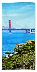 Golden Gate Bridge From The Coastal Trail Hand Towel