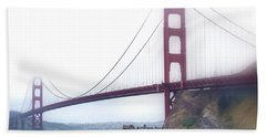 Hand Towel featuring the photograph Golden Gate Bridge by Laura DAddona