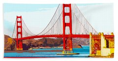 Golden Gate Bridge San Francisco The City By The Bay Hand Towel