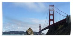 Hand Towel featuring the photograph Golden Gate Bridge by Sumoflam Photography