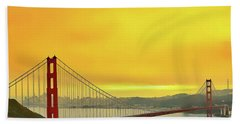 Bath Towel featuring the painting Golden Gate by Harry Warrick