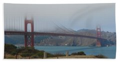 Golden Gate In The Clouds Hand Towel