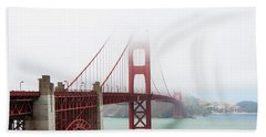 Golden Gate In The Fog Hand Towel