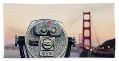 Bath Towel featuring the photograph Golden Gate Sunset - San Francisco California Photography by Melanie Alexandra Price