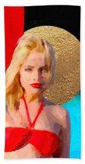 Bath Towel featuring the digital art Golden Girl No. 2 by Serge Averbukh