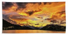 Golden Glow At Summit Cove Pano Hand Towel