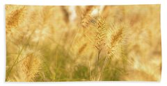 Golden Grass Bath Towel
