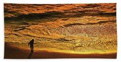 Golden Hour-beach Walk  Hand Towel