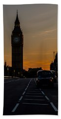 Golden Hour Big Ben In London Bath Towel