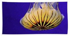 Golden Jellyfish Hand Towel