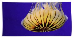 Golden Jellyfish Bath Towel by Rosalie Scanlon