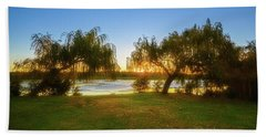 Bath Towel featuring the photograph Golden Lake, Yanchep National Park by Dave Catley