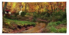 Golden Leaves Of Autumn Hand Towel
