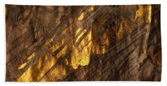 Hand Towel featuring the painting Golden Light by Nancy Kane Chapman