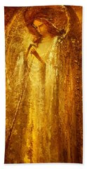 Golden Light Of Angel Bath Towel