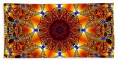Golden Mandala Bath Towel