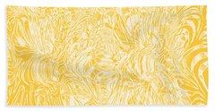 Golden Bath Towel by Nareeta Martin
