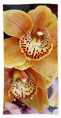 Golden Orchid Bath Towel