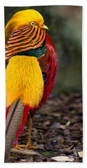 Golden Pheasant Hand Towel