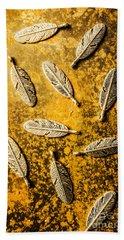 Golden Plumage Hand Towel